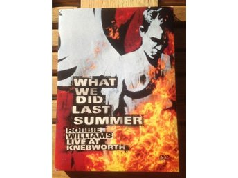 DVD Superartisten Robbie Williams live konsert What we did last summer Knebworth