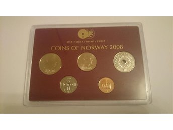 Set med mynt coins of Norway 2008