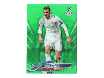 17-18 Topps UEFA Champions League Chrome Green Gareth Bale /99