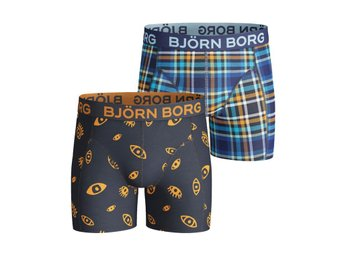Björn Borg 2-Pack Boys Shorts Watchout & Poison Check Black Iris (122-128)