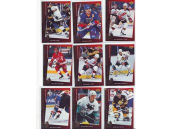 94-95 UPPER DECK CANADIAN GOLD PREDICTOR NORRIS 10 KORT SET - Värmskog - 94-95 UPPER DECK CANADIAN GOLD PREDICTOR NORRIS 10 KORT SET - Värmskog
