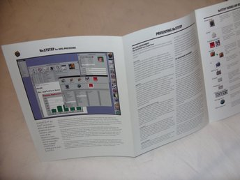 NeXTStep for Intel Processors Sällsynt! Steven Jobs Apple NeXTSTEP Brochure
