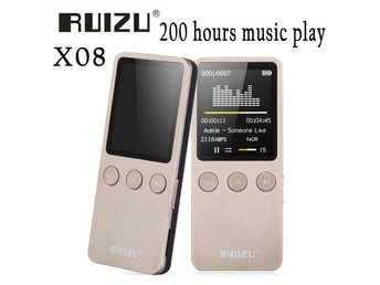 Ruizu X08 8GB Flac Lossless Hifi Digital Audio Skärm Mp 3 Music Mp3 Player