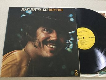 Lp Jerry jeff Walker-Bein' Free US org på Atco