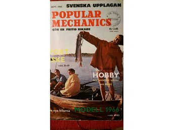 POPULAR MECHANICS Nya bilar 1966. Nr 9 1965