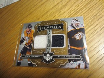 P Forsberg - UD Artifacts Tundra Tandems jersey m T Vokoun, 125:exare, 2007/08
