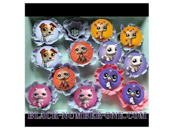 LITTLEST PET SHOP tårtoblater - Cake / Muffin toppers