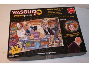 Pussel Wasgij? Original nr26 Celebrity Chief Chef!, 1000 bitar