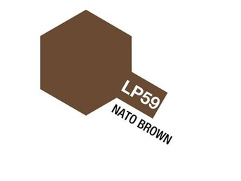 Tamiya Lacquer Paint 10ml : LP-59 Nato Brown