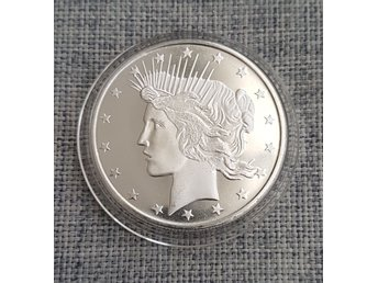 Silver peace dollar 1 oz