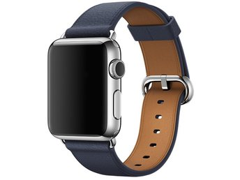 Classic Buckle 38/40mm Apple Watch Armband - (NAVY)