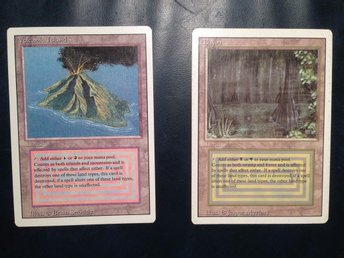 Volcanic Island & Bayou - Magic the gathering
