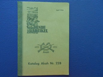 Katalog Akah Hundeartikel april 1956