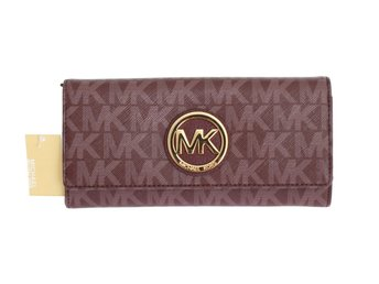 Michael Kors - Purple FULTON Leather CONTINENTAL Wallet