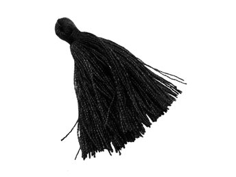Tassel dekoration 30-35 mm 35-Pack svart