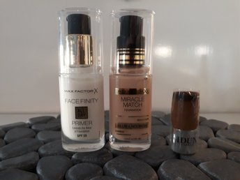 Max factor miracle match foundation light ivory Face finity primer Idun minerals