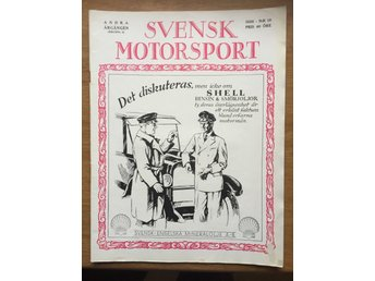 Svensk Motorsport Nr10 1926 Shell Indian HD EBE Tullinge