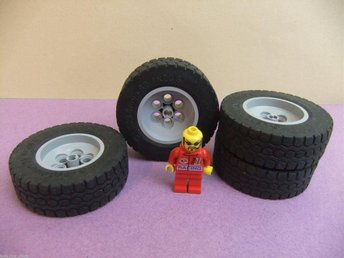 4 st extra stora Lego hjul 62.4 x 20 Technic MEGA HJUL - Lund - 4 st extra stora Lego hjul 62.4 x 20 Technic MEGA HJUL - Lund