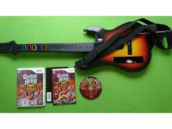 Guitar Hero gitar SVENSK utgåva med 1 Guitar Hero Spel Nintendo Wii - Västerhaninge - Guitar Hero gitar SVENSK utgåva med 1 Guitar Hero Spel Nintendo Wii - Västerhaninge