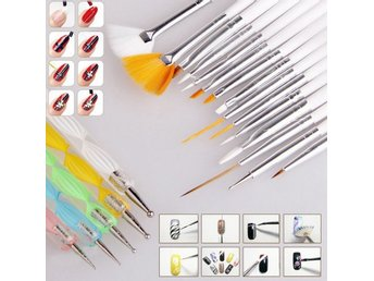 Nail Art 20pcs Design Dotting Painting Polish Brush Pen Tool Set