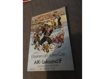 HOCKEY Matchprogram AIK v Leksands IF 18/1 1976 Johanneshov