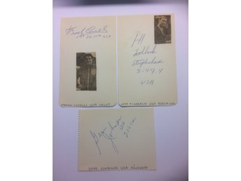 3 USA-friidrottare OS mm 60-talet. Covelli, Fishbach och Johnson. Autografer