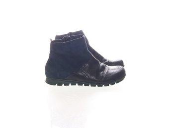 Think!, Boots, Strl: 33, BlåSvart, Skinn