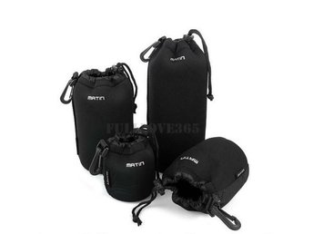 4pcs S+M+L+XL Neoprene Camera DSLR Lens Soft Waterproof Pouch Bag Case Bag Set