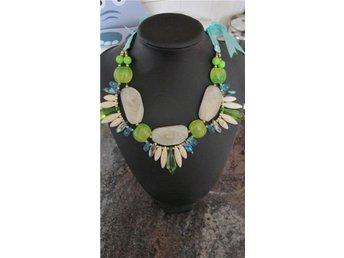 Fashion trendigt halsband smycke mode accessoar pärlor vit grön turkos stenar - Göteborg - Fashion trendigt halsband smycke mode accessoar pärlor vit grön turkos stenar - Göteborg