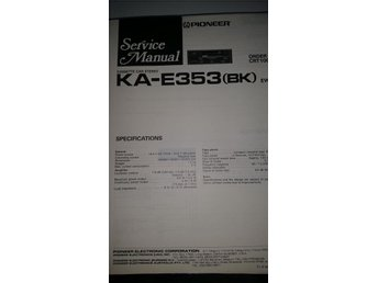 Pioneer KA-E353 (BK) Orginal Service manual