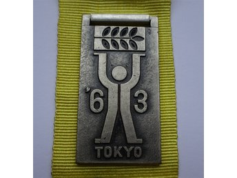 Pre-Olympics 1963 Tokyo International Sports Week Badge Press? (1)