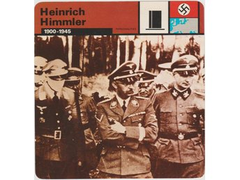 WW 2 Tredje Riket Heinrich Himmler 1900 -1945  Collectors Series Card