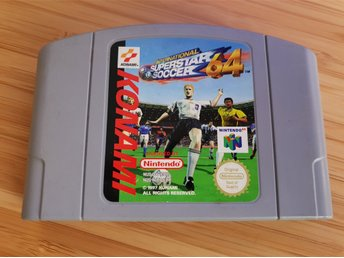 N64 Nintendo 64 spel - ISS 64 - International Superstar Soccer 64