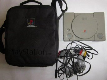Playstation ORIGINAL VÄSKA med playstation 1 reservdelar
