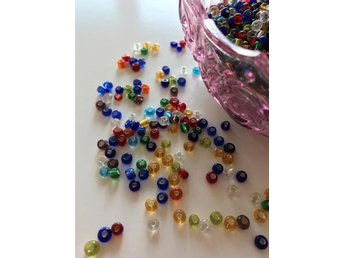 Seed Beads 4 mm, 20 g CA 250 st. Snabb Leverans!