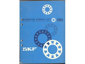 SKF Automotive Service List 1961
