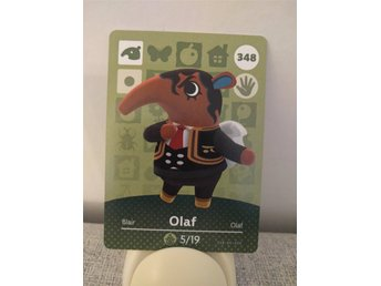 Animal Crossing Amiibo Welcome Amiibo card nr 348 Olaf