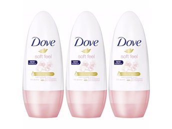 Dove deo roll-on soft feel Anti - Perspirant x 3 stycken