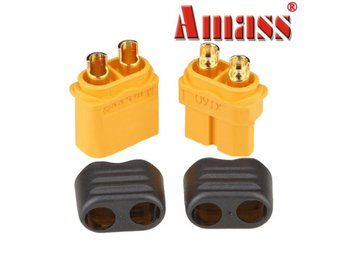Amass XT60+ Plug Connector With Sheath Housing Male & Fem...