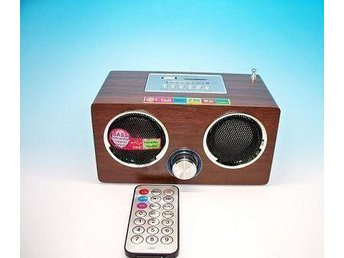 Wooden FM direct switch Super bass perfect sound radio with remote controller