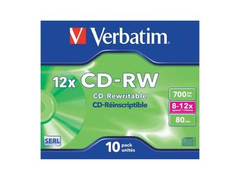 VERBATIM CD-RW 700MB 10-pack Jewel Case