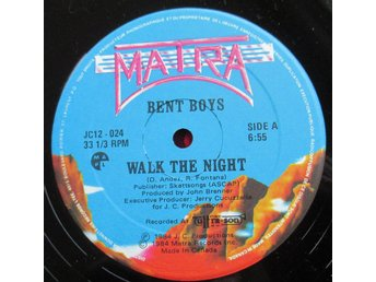 "12"" maxi: BENT BOYS Walk The Night (CAN 1984) Rare electro!"