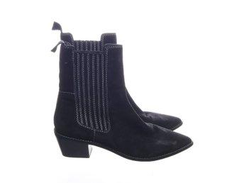 H&M Premium Quality, Boots, Strl: 41, Chelsea boots , Svart, Mocka