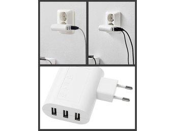 NY USB laddare med 3 portar