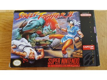 Street Fighter II (2) till Super Nintendo Amerika import