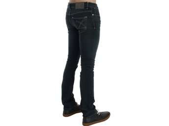 EXTE - Green Stretch Cotton Slim Fit Jeans