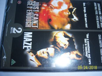 Just cant get enough / Maze - Inplastad DVD (2 filmer)