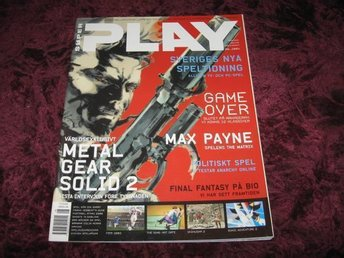 SUPER PLAY NY 08- 2001 METAL GEAR SOLID 2 RETRO