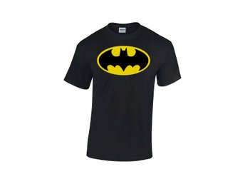 BATMAN LOGO BLACK MEN T-SHIRT DC COMICS - Large