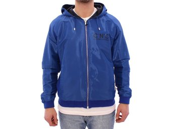Costume National - Blue hooded reversible jacket